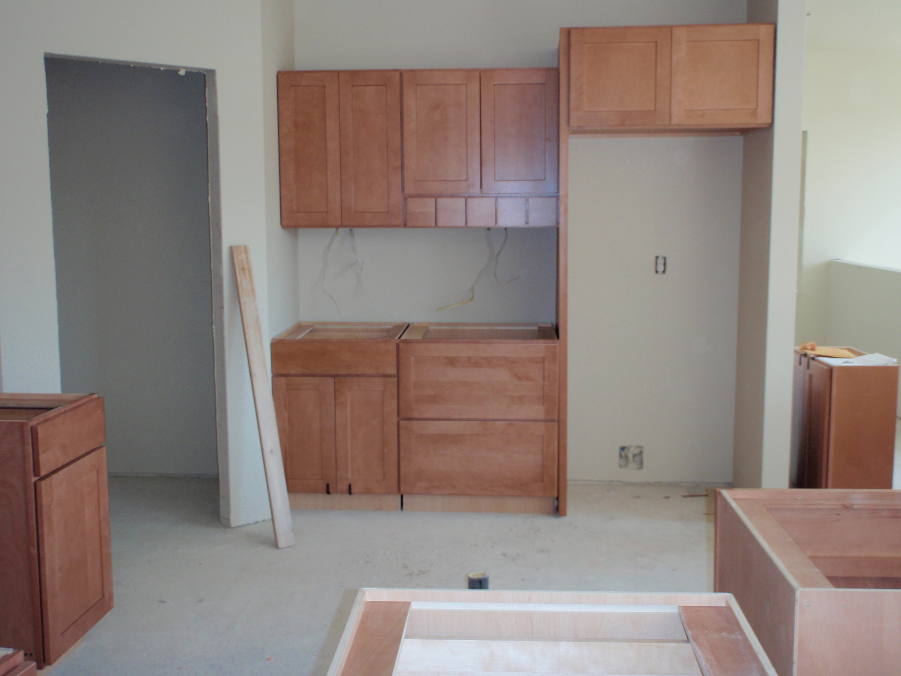 Cabinets Going Up After Turmoil | Living a Rewarding Life ...