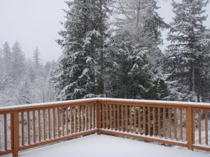 First Snowfall of 2012 on back deck